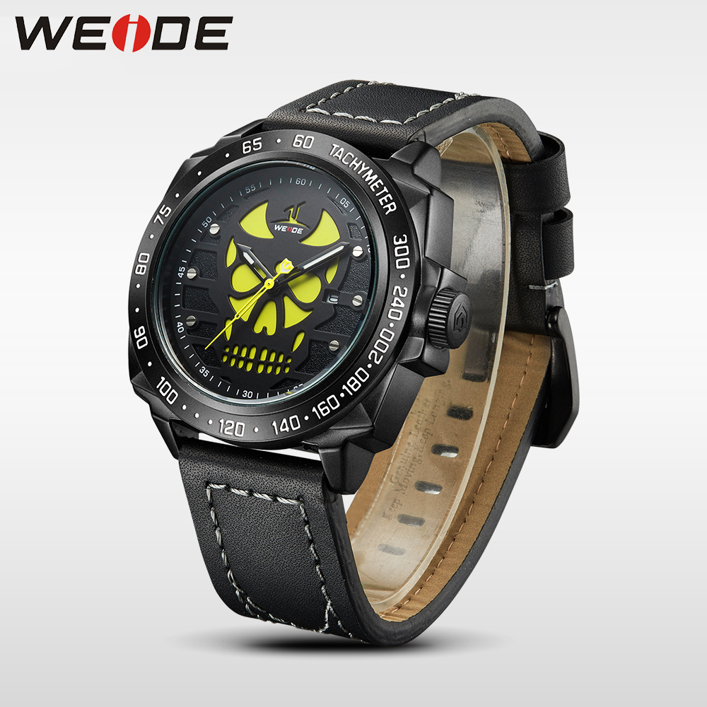 WEIDE genuine luxury Brand Men Watch Analog  Date Leather Strap Clock sport  Waterproof Casual Quartz Watch Relogio Masculino weide casual genuine luxury brand quartz sport relogio digital masculino watch stainless steel analog men automatic alarm clock