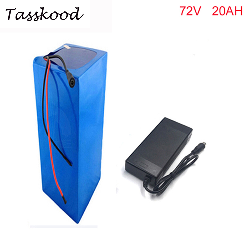DIY ebike lithium battery 72V 20AH electric bicycle battery for electric motorcycle 72v 20ah 18650 li ion battery with charger 72v 3000w lithium ion battery pack for scooter e motorcycle electric bike
