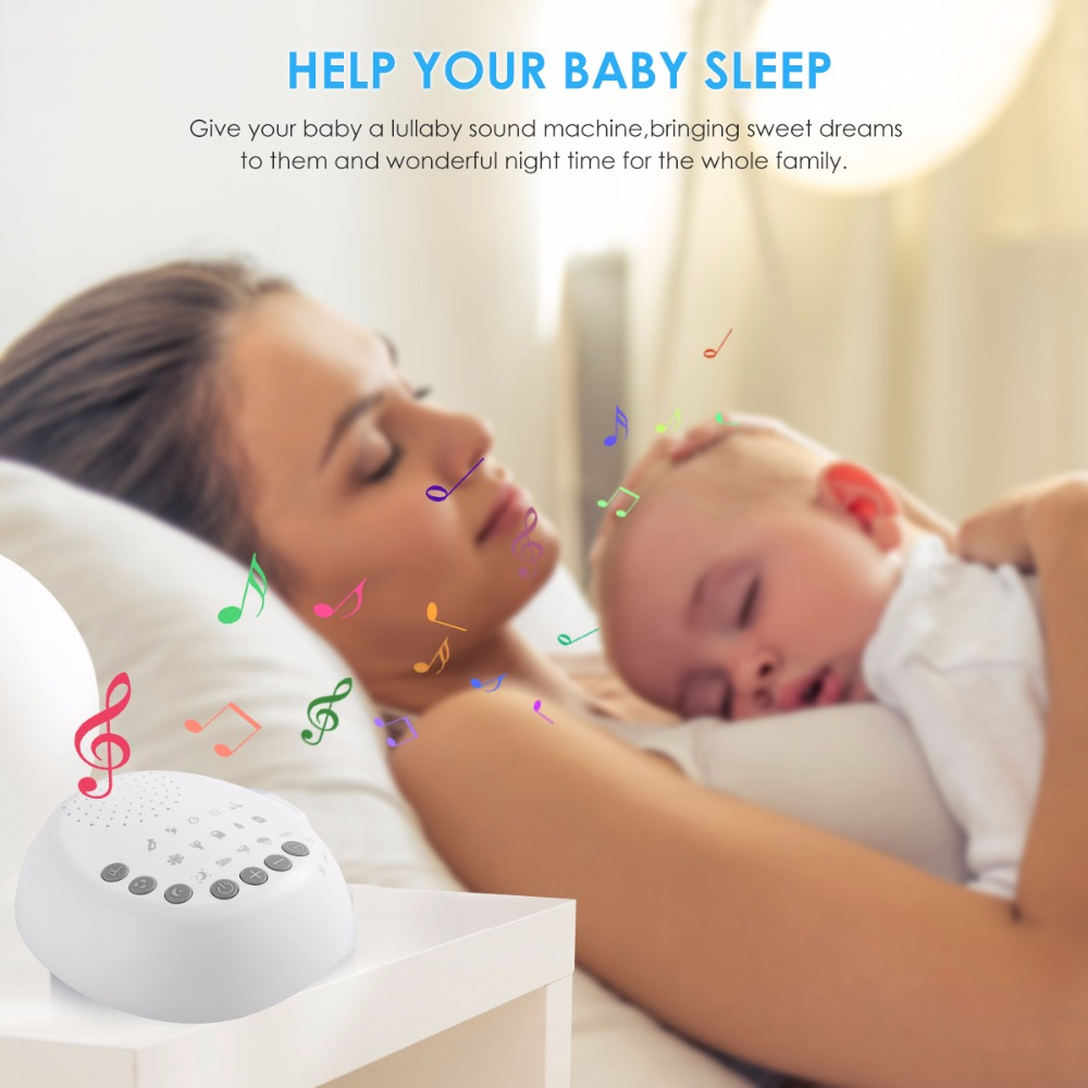 White Noise Machine Sleep Sound Machine For Sleeping Relaxation for Baby Adult USB Rechargeable Sleep Aid Device in Baby Sleeping Monitors from Mother Kids