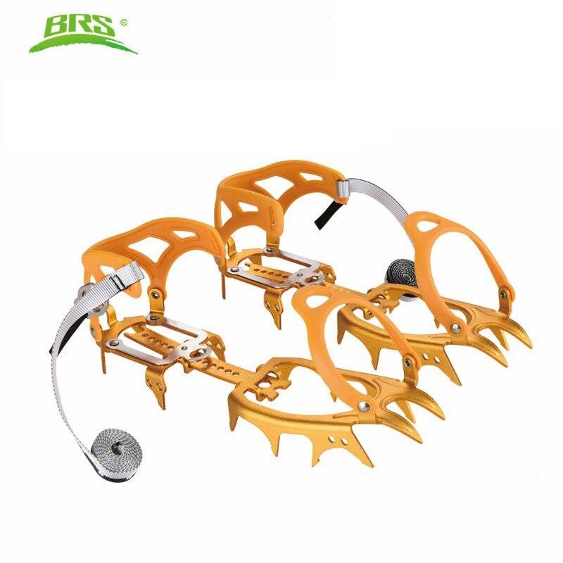 BRS Ultralight 14 Teeth Aluminium Alloy Bundled Crampons Ice Gripper Outdoor Ice Climbing Kits Ultra Light