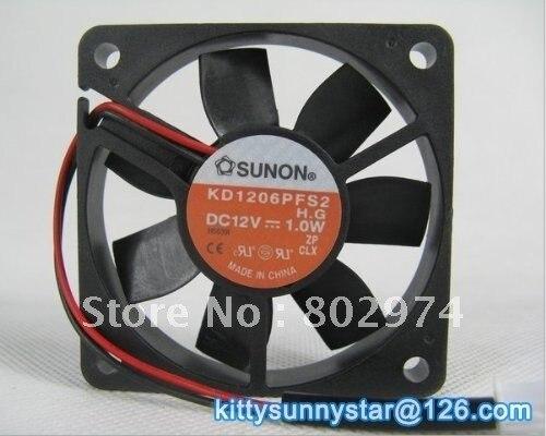SUNON 6010 KD1206PFS2 12V 1.0W 2Wire Server Fan,dc axial fan,Cooling Fan