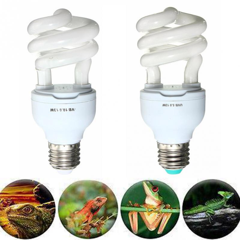 5.0 10.0 Uvb 13w Reptile Light Bulb Uv Lamp Vivarium Terrarium Tortoise Turtle Snake Pet Heating Light Bulb 220v-240v #2