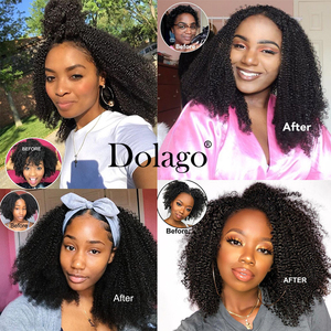 Image 5 - Afro Kinky CURLY Braiding Hair BULK สิ่งที่แนบมาบราซิล BULK สำหรับ Braiding 1 3 PC โครเชต์ Braids 4B 4C Dolago Remy