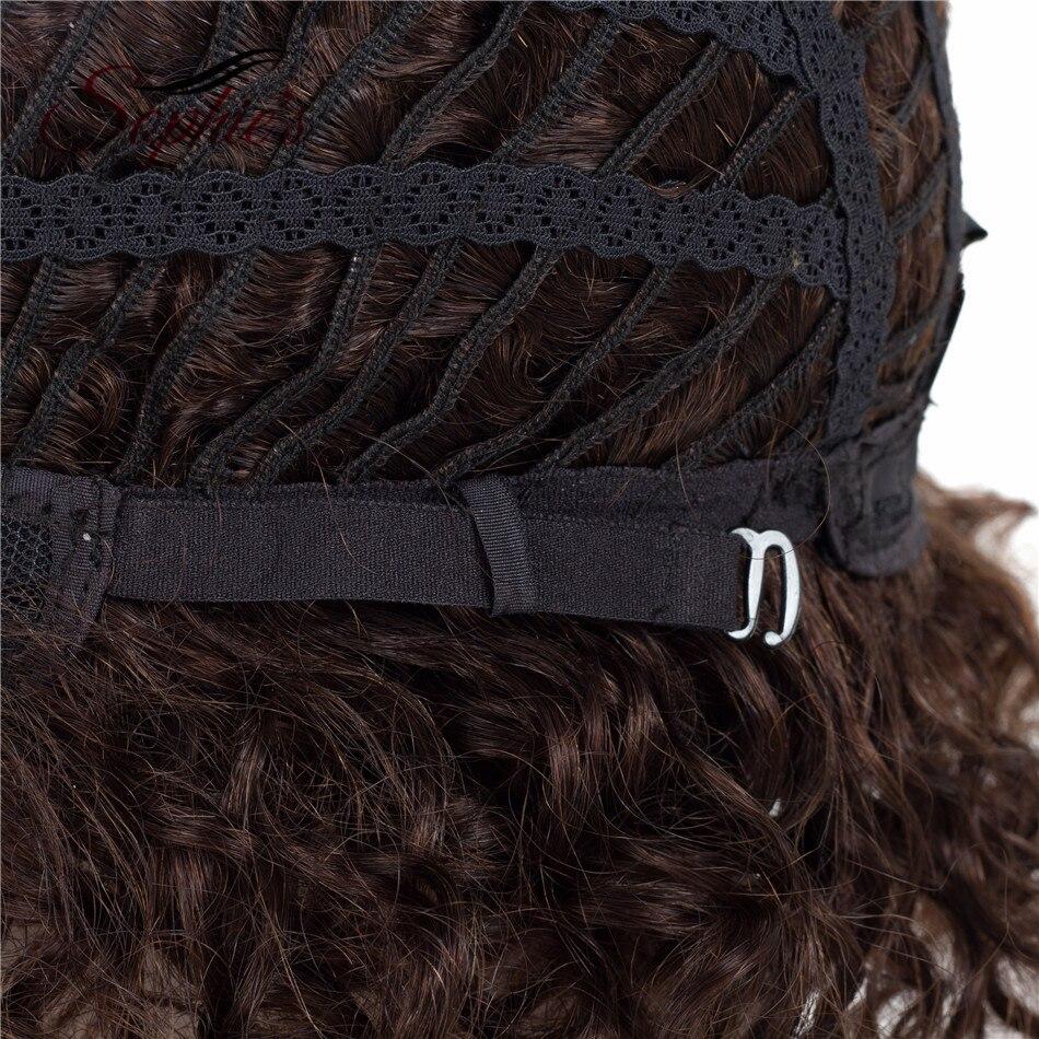 Sophie's Short Human Hair Parykar Non-Remy Huma Curly Parykar För - Skönhet och hälsa - Foto 5