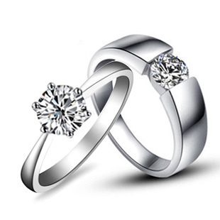 a10a69f033 Sincerely Love Couple Rings Diamond Engagement Jewelry For Lovers Sterling  Silver Couple Rings Jewellery Pt950 Stamped