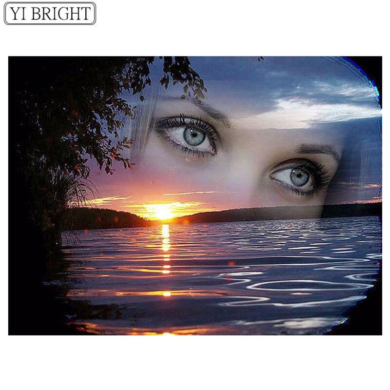 Картинка глаза женщины на небе