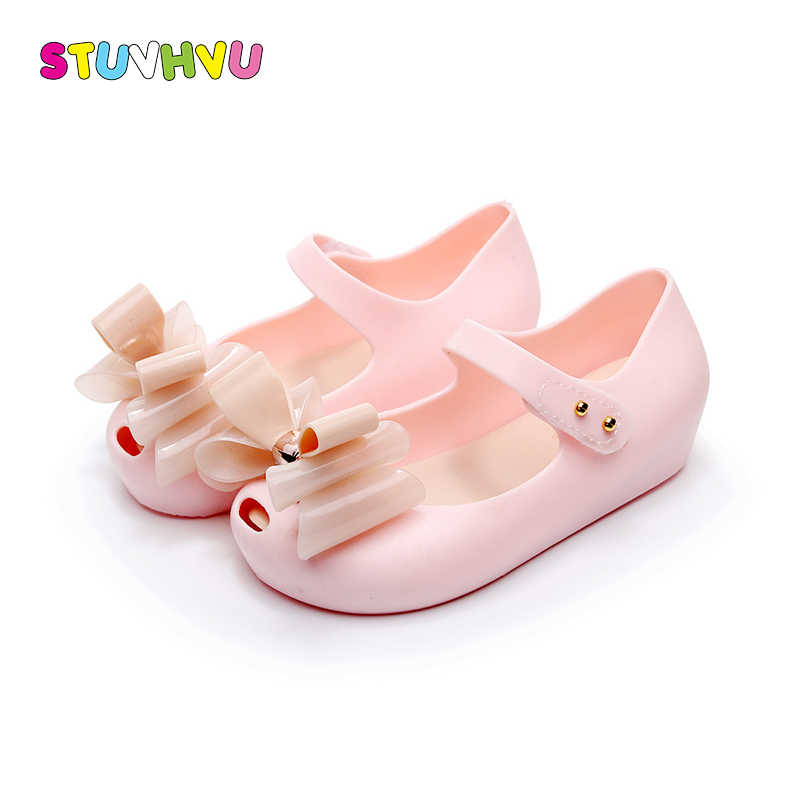 08a5e8fd3cea0e Children jelly shoes mini sed 2018 summer fashion butterfly bow-tie girls  sandals fish head