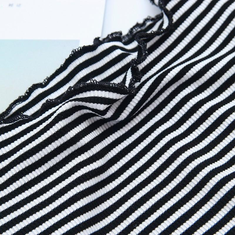 HTB1mZV2OVXXXXaKaFXXq6xXFXXXt - Striped Knitted Off Shoulder Slash Neck Short Sleeve T Shirt PTC 27