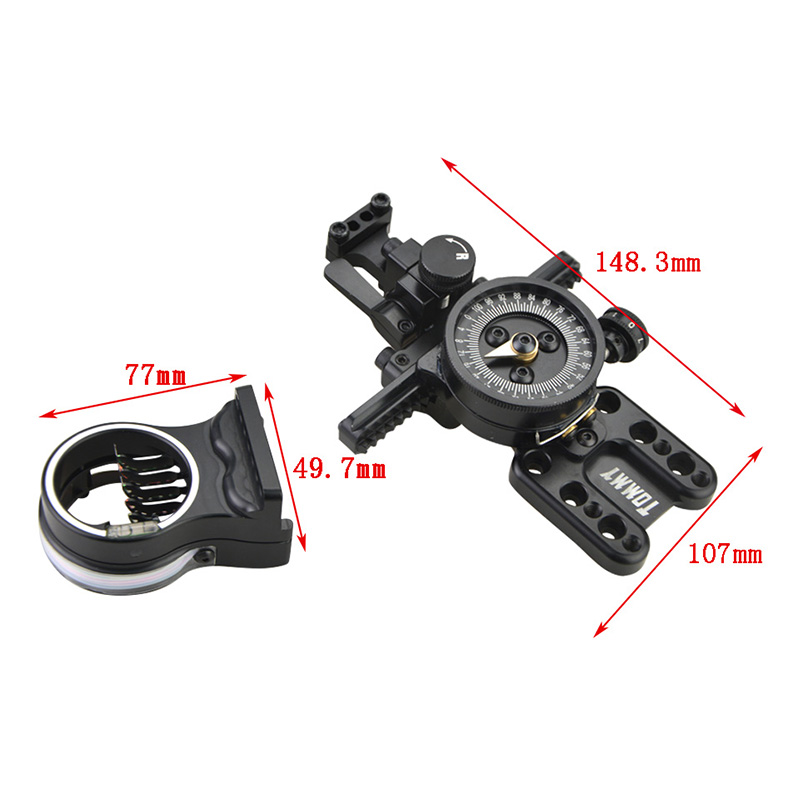 Image 2 - 1pc Compound Bow Sight Fine Adjustable Pointer 5 pins Sight Shooting Aiming Tool Hunting Sports Archery AccessoriesDarts   -