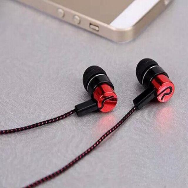 Hangrui 3.5mm In-Ear Earbuds Earphones Wired Stereo Braid Cord Earphones for iPhone Xiaomi samsung mobile EarPhones headphones