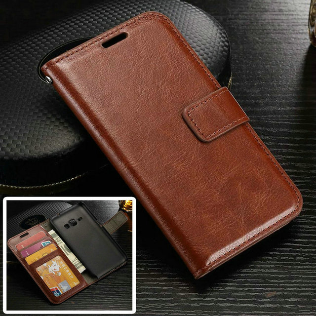 detailing a2fb0 278b5 US $3.98  J7 Luxury Retro Leather Wallet Flip Cover Case For Coque Samsung  Galaxy J7 J 7 J700 J710 2016 Photo Frame Stand Samsung J7 Case-in Flip ...