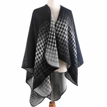 POBING Women Poncho Winter Cashmere Scarf Unisex Basic Birds Scarf Vintage Poncho Long Pashmina Shawls And Wraps Tippet Cape - DISCOUNT ITEM  32% OFF All Category