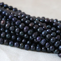 Fashion 7-8mm black natural pearl beads freshwater cultured wholesale factory price fine Hot sale jewelry making 15inch B1338