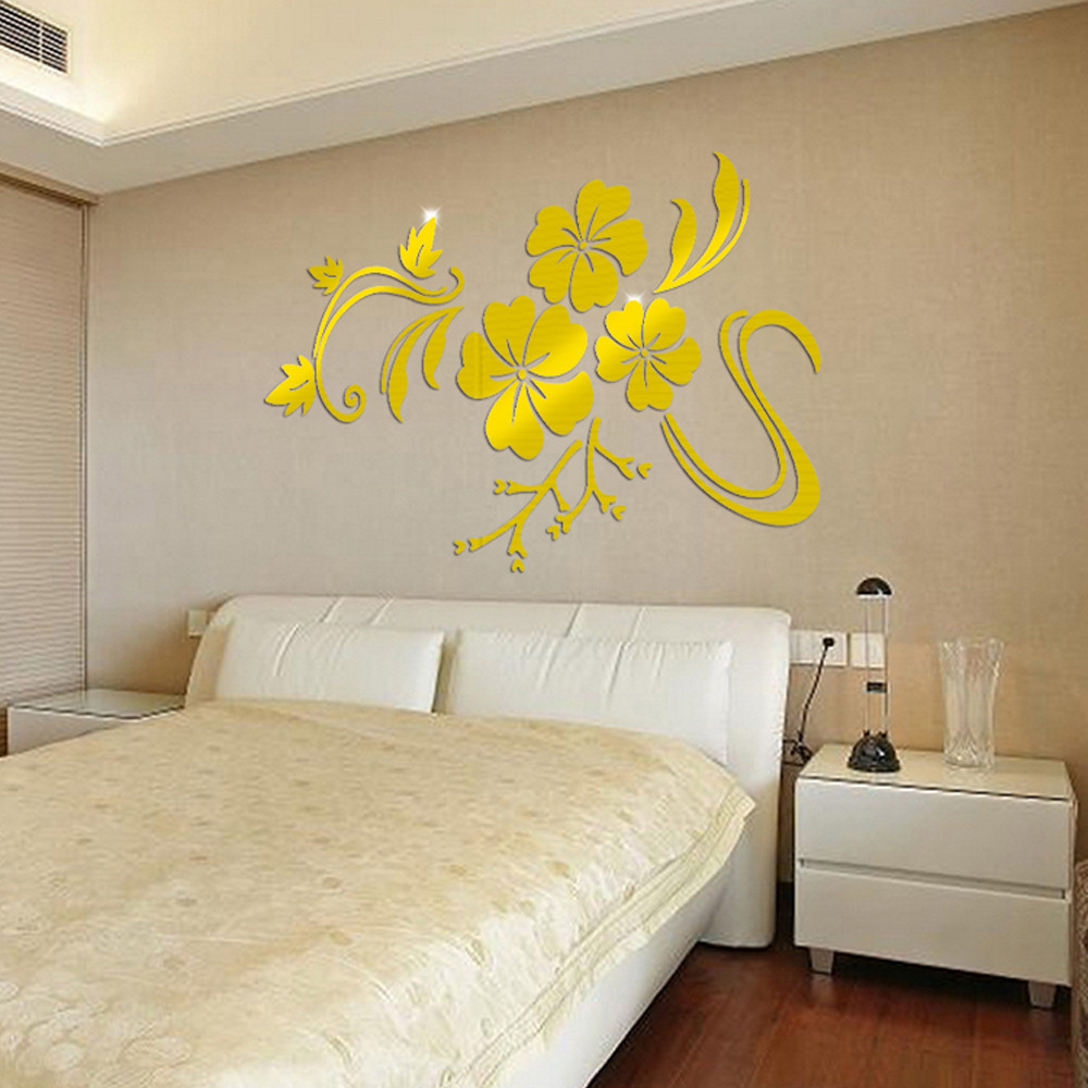 3d Mirror Mural Decal wall stickers room decorations wall art ...