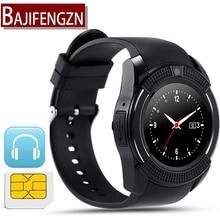Hombres mujeres reloj inteligente para android teléfono soporte SIM/TF Podómetro GPRS pantalla usable deporte reloj Redondo Q18 DZ09 checa Holandés