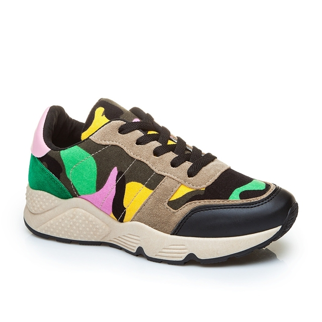 New Listing Hot Sale fashion brand Breathable camouflage canvas women casual shoes