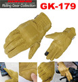 2016 New Japan KOMINE GK-179 vintage motorcycle gloves leather MOTO biker riding gloves can touch screen Tan color size M L XL