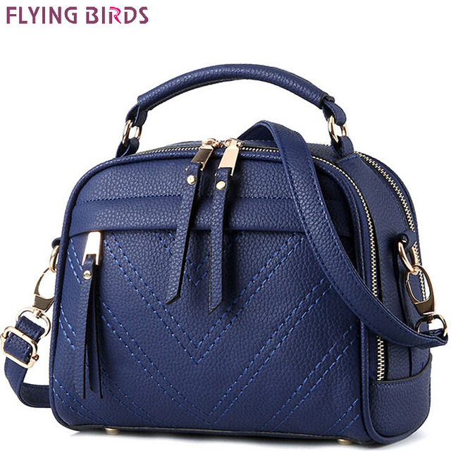 FLYING BIRDS! 2016 women leather handbag of brands women messenger bags cross body ladies shoulder shoulder bag bolsos LS8925fb