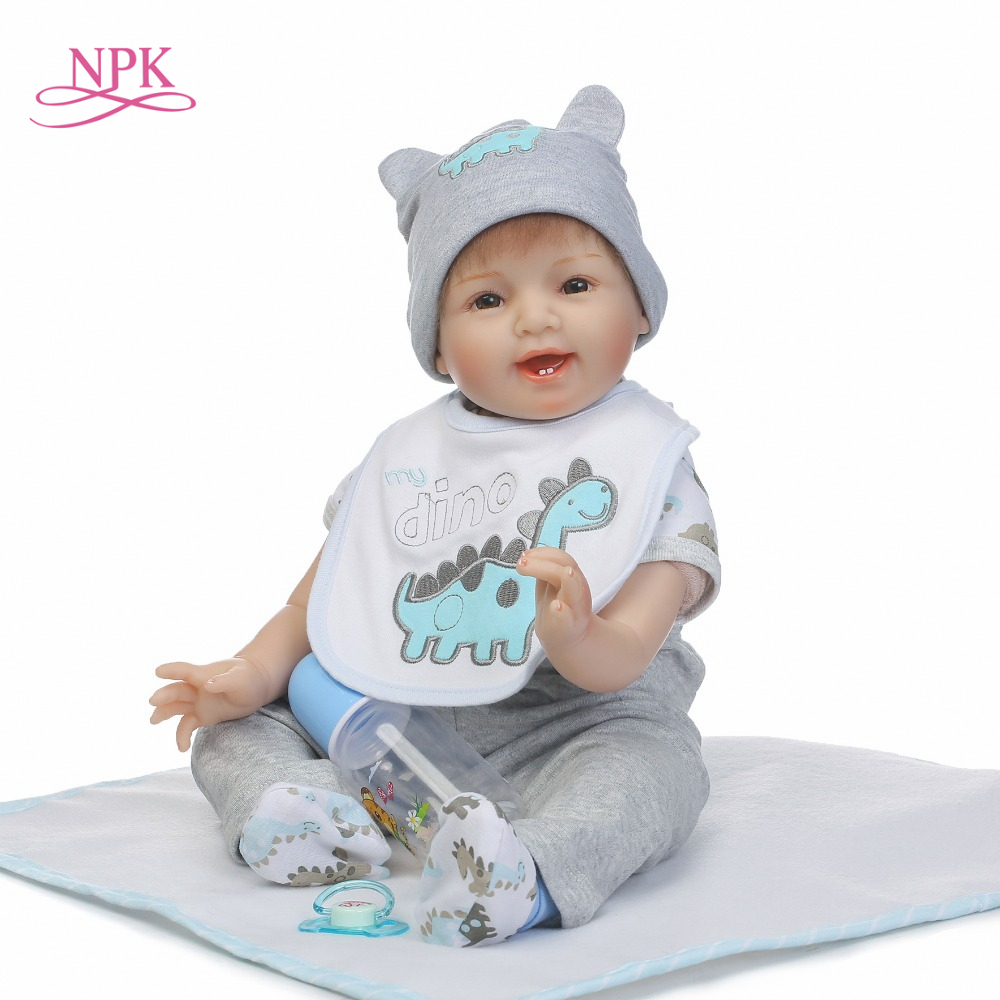 NPK 2017 New 22inches 55cm lifelike reborn baby doll wholesale baby dolls cute doll Christmas gift