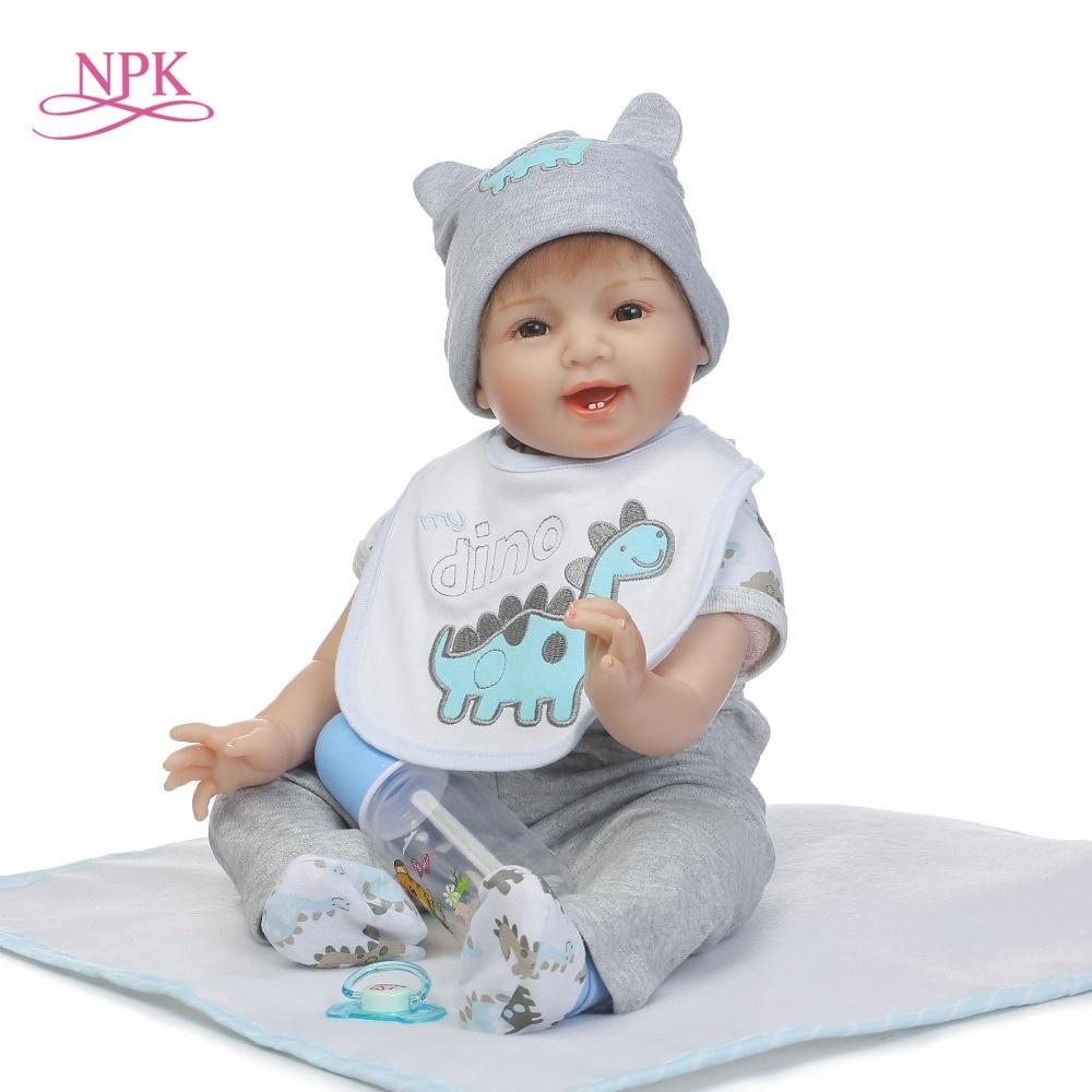 NPK 2017 Nuevo 22 pulgadas 55 cm realista reborn baby doll al por mayor muñecas Linda muñeca regalo de Navidad Año Nuevo regalo-in Muñecas from Juguetes y pasatiempos    1
