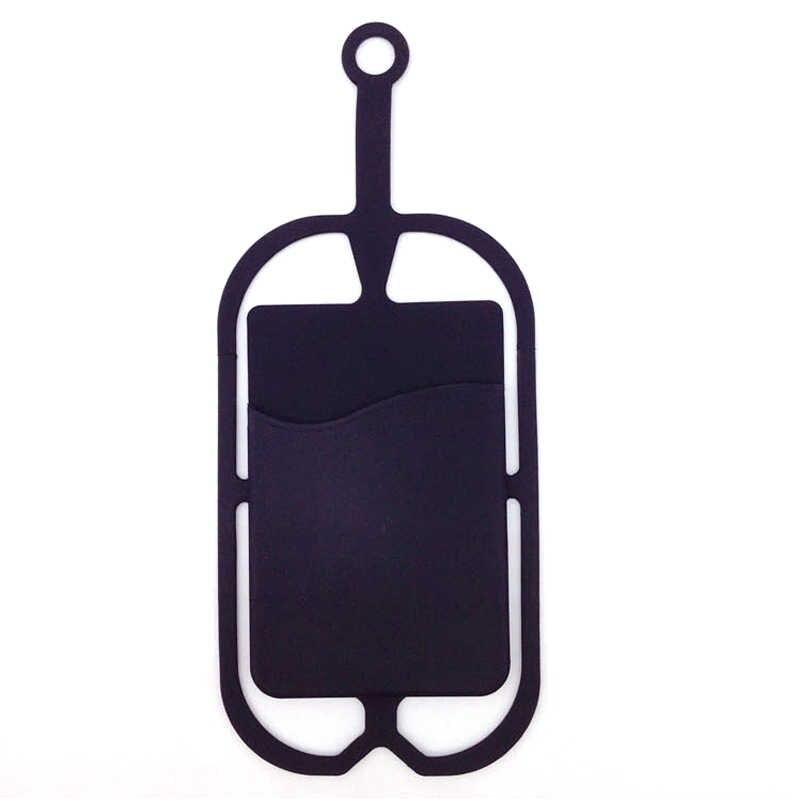 1 x silikonowa smycz Moblie paski do telefonu uchwyt na telefon komórkowy Sling naszyjnik pasek na rękę uchwyt na telefon komórkowy z uchwytem na kartę P25