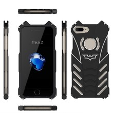 R-JUST Batman Case Heavy Dust Metal Armor Anodized Aluminum Case for iPhone 7 Plus 7S 6 6S 5 5S SE For Samsung S6 S7 edge Note 7