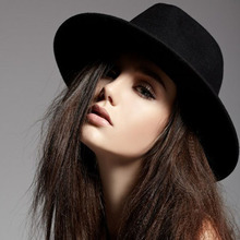 Винтажная черная фетровая шляпа из шерсти, фетровая Кепка для женщин