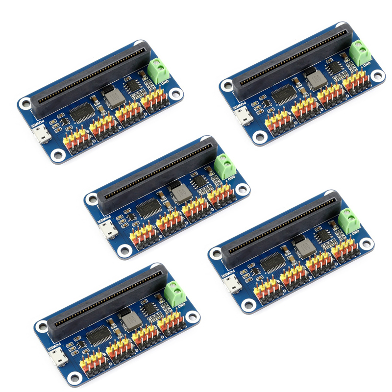 5pcs 16-Channel 12-bit Servo Driver I2C 5V 3A PCA9685 PWM For Micro:bit Microbit, For SG90 MG90S MG996R RC Servos FZ3322