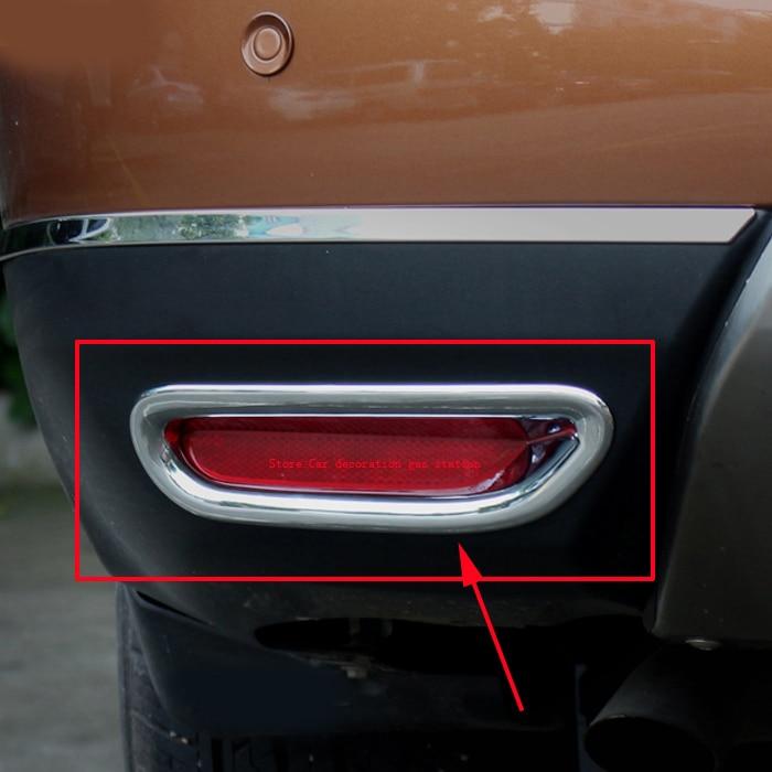 Abs Chrome Rear Fog Light Lamp Cover Trim For Nissan X
