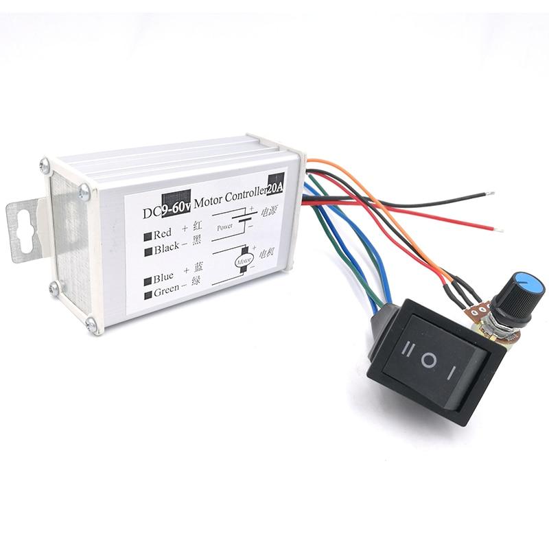 Motor Controller Ebowan Dc 9v 12v 24v 36v 48v 60v 20a 1200w Pwm Motor Controller Motor Speed Regulator Switch Moderate Price