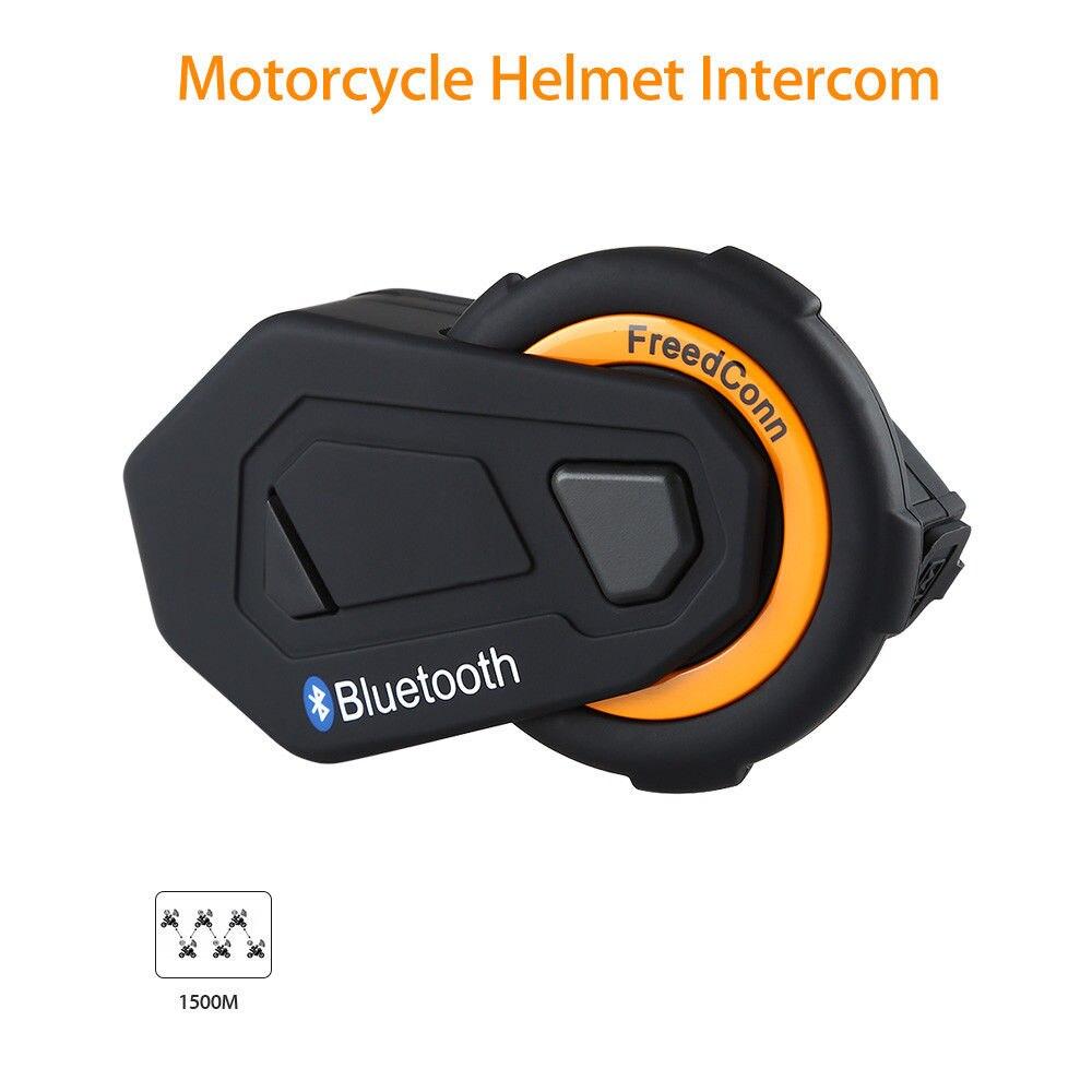 FreedConn T-MAX 1500 M Bluetooth Moto Moto Casque Interphone Interphone Casque FM Radio Sans Fil 6 Coureurs Communication