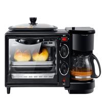 3 in 1 Home Breakfast Machine Coffee Maker Frying Pan Bread Toaster Electric oven Bread baking machine D308