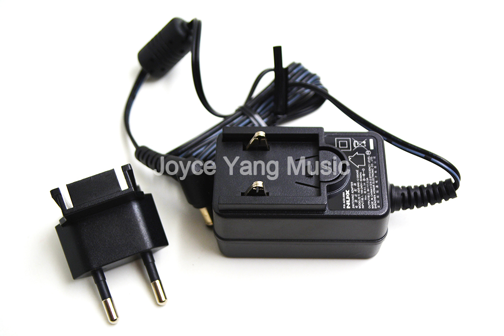 NUX AC//DC Power Adapter 2-prong European plug for Effects Pedals ACD-008A