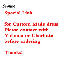 Lowime Couture Women Evening Gown Prom Dresses Party Dress For Wedding Custom Made Dress Color Size