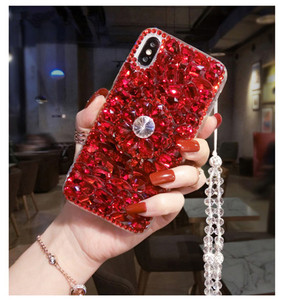 Image 2 - Caso de telefone luxo bling cristal diamantes 3d pedras suporte macio capa traseira para huawei p20 p30 p40 lite plus mate 20 30 lite pro