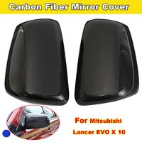 Replacement Car Styling Carbon Fiber ABS Rear Side Door Mirror Cover For For Mitsubishi Lancer EVO X 10