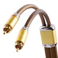 Skw энтузиастов 24 К occ Hi Fi стерео театр 2RCA к 2RCA AUX аудио кабель для подключения усилителя сабвуфера AV звук трансляционной линии