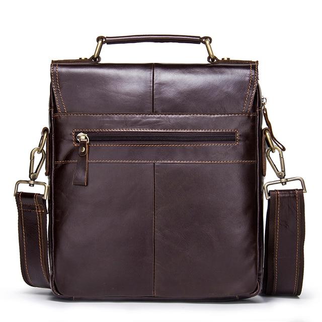 CONTACT'S Brand Design Genuine Leather Shoulder Bag Men Crossbody Messenger Bags Vintage Men's Handbag Bolsos Male For 9.7 1