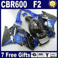 Customize motor fairings kit for Honda CBR600 F2 1991 1992 1993 1994 CBR 600 F2 92 93 CBR600 F 91 94 black blue fairing bodywork