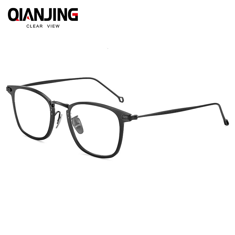 Free Shipping 100% Pure Titanium Full Rim Brand Eyeglasses Men Optical Spectacle Frame Eye Prescription Glasses Oculos De Grau pure titanium full rim frame men male eyeglasses titanium sunglasses frame