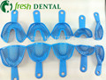 Dental One Set Dental Trays for impressions Impression tray Blue Dental Plastic-Steel Impression Trays autoclavable