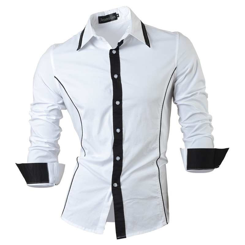 2018 frühling Herbst Eigenschaften Shirts Männer Casual Jeans Hemd Neue Ankunft Langarm Casual Slim Fit Männlichen Shirts 8015