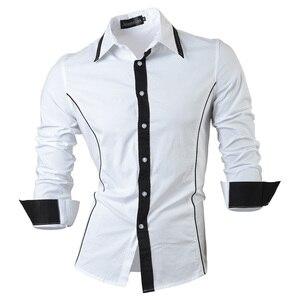 Image 3 - Jeansian אביב סתיו תכונות חולצות גברים מקרית ג ינס חולצה הגעה חדשה ארוך שרוול מקרית Slim Fit זכר חולצות 8015