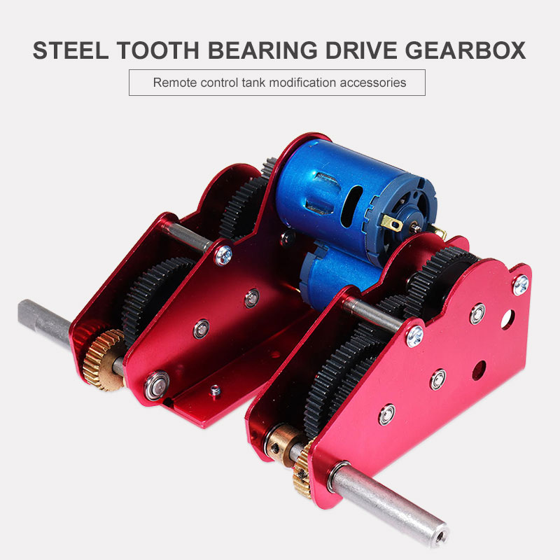 RC Tank Accessories Gearbox RC Tank Gearbox Bearings Drive 1 16 Steel Gear Metal Upgrade Assemble