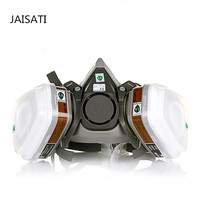 JAISATI Gas Masker Voor Verf 7 Suits Dust Filter Spray Half gezichtsmasker Anti-condens Haze Maskers Pesticiden Formaldehyde deeltjes