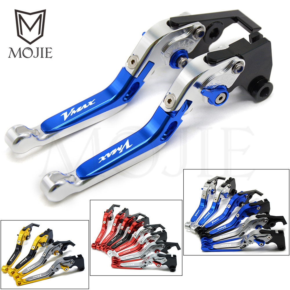 For Yamaha VMAX V-MAX V MAX 1200 1985-2008 1986 1987 1988 1989 1990 1991 1992 1993 1994 Motorcycle Brake Clutch Levers VMAX1200 for yamaha vmax v max 2009 2014 red black blue new style motor motobike motorcycle adjustable short brake clutch levers