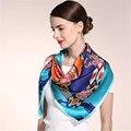 winter scarf women 2016 new fashion Real silk Satin printing Multi purpose large Kerchief bandana horse hijab shawl silk scarf