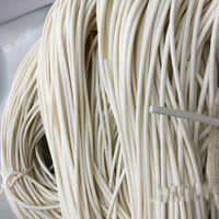 Foamed silicone rubber seal strip Round dia1 1.5 2 3 4 5 6 7 8 9 10 mm Oring line cord Foaming rubber molding damper Round Solid