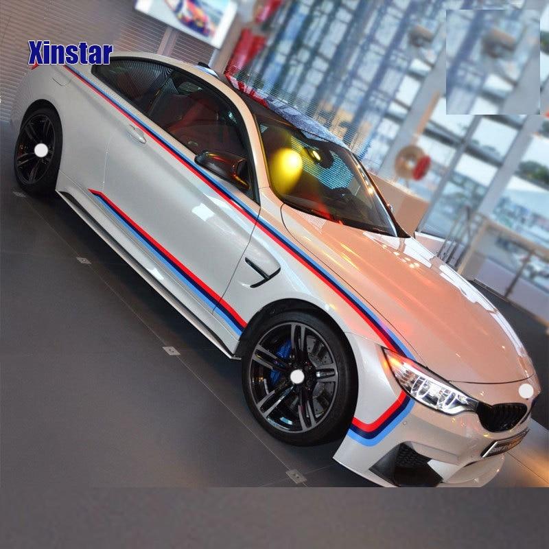 1 set M power performance car door sticker for BMW F30 F10 E60 E90 E46 X1