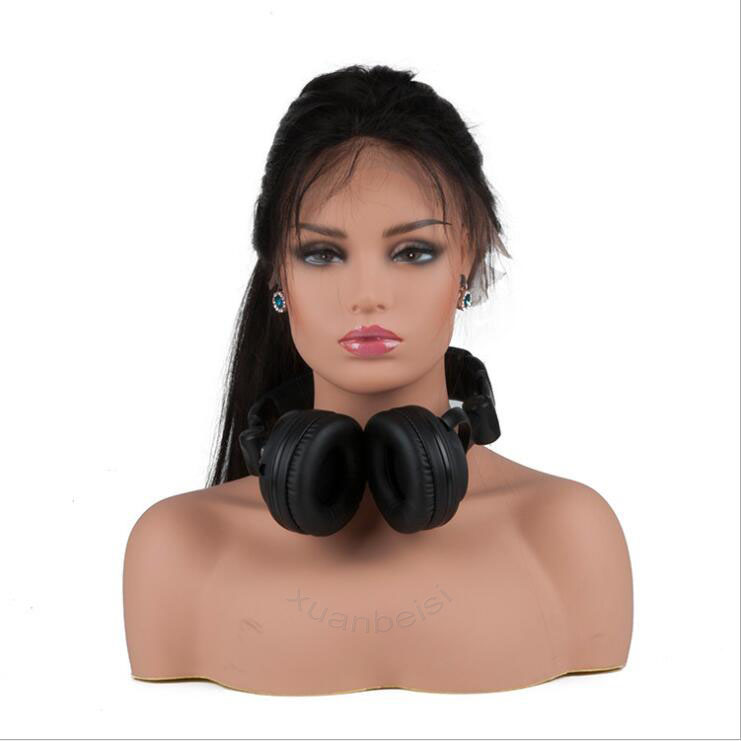 Fleshtone réaliste tête de Mannequin buste pour perruque de cheveux bijoux chapeau boucle d'oreille écharpe écouteur affichage tête factice perruque faisant des outils